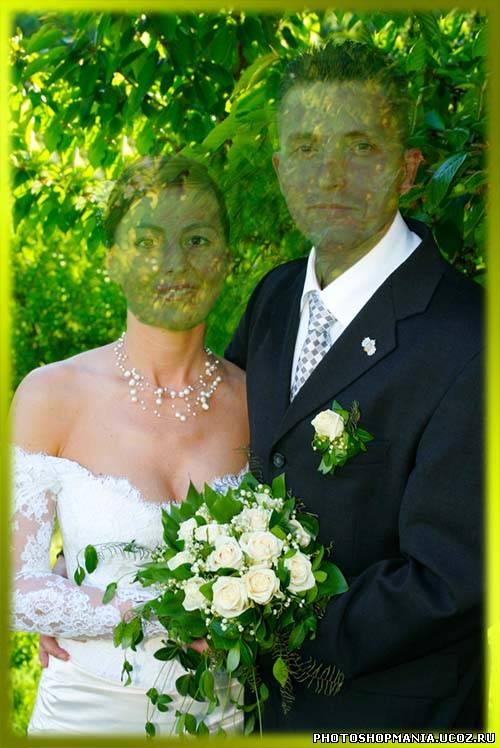 Шаблон для фотомонтажа пары - Свадьба. шаблоны фотошоп уроки рамки